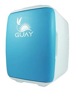 Guay Outdoors Portable Thermoelectric Mini Fridge Cooler and Warmer – 4 Liter/6 can. AC/DC ...