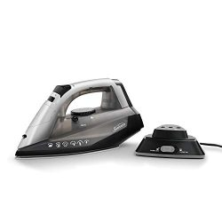 Sunbeam Cordless or Corded Iron | 1500-Watt Anti-Drip Ceramic Hybrid Clothes Steam Iron with Ver ...