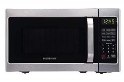 Farberware Classic FMO07AHTBKJ 0.7 Cu. Ft. 700-Watt Microwave Oven with LED Lighting, Brushed St ...