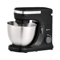 AmazonBasics Multi-Speed Stand Mixer with Attachments, Black