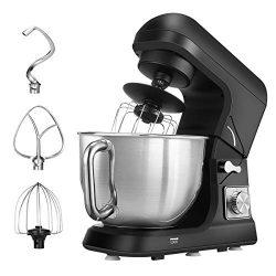 Stand Mixer, Dough Mixer with 5 Qt Stainless Steel Bowl, 6 Speeds Tilt-Head Food Mixer, Kitchen  ...