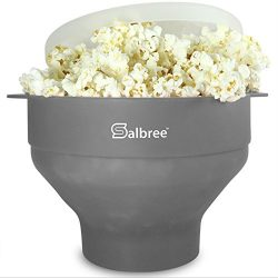 Original Salbree Microwave Popcorn Popper, Silicone Popcorn Maker, Collapsible Bowl BPA Free  ...