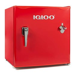 Igloo IRF16RSRD Classic Compact Single Door Refrigerator Freezer w/Chrome Handle & Bottle Op ...
