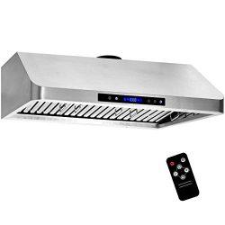 36 Inch Under Cabinet Range Hood 1000 CFM 4 Speed Air Exhaust Kitchen Cooking Fan Stove Vent Sta ...