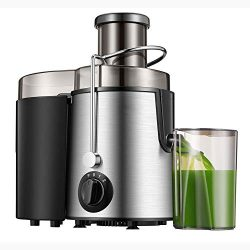 Homlpope Centrifugal Juicers Machine, Juice Extractor 3 Speed Model, Press Centrifugal Juicing M ...