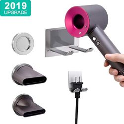 XIGOO Hair Dryer Holder, Self Adhesive Dyson Blow Dryer Wall Mount Holder Compatible Dyson Super ...
