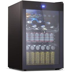 Tavata Beverage Refrigerator and Cooler – 4.5 Cu. Ft. Drink Fridge with Glass Door for Sod ...