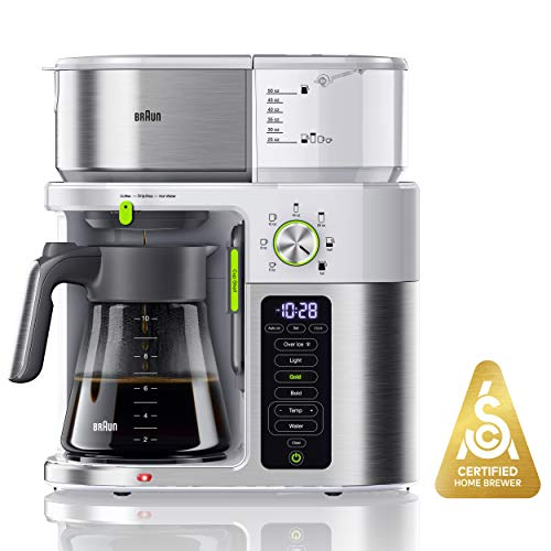 Braun KF9150WH MultiServe Coffee Machine 7 Programmable Brew Sizes / 3 Strengths + Iced Coffee ...