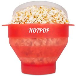 The Original Hotpop Microwave Popcorn Popper, Silicone Popcorn Maker, Collapsible Bowl Bpa Free  ...