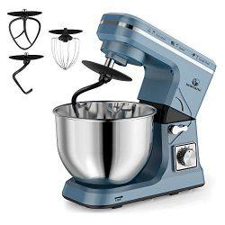 MURENKING Stand Mixer, 5-Qt 6-Speed Dough Mixer, 500W Tilt-Head Kitchen Mixer (Dough Hook and Be ...