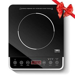 Portable Induction Cooktop, 1800W Countertop Burner Cooker with 10 Power Levels, 180 Minutes Tim ...