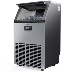 Vremi Commercial Grade Ice Maker – Produces 99 Pounds of Ice in 24 Hours with 29 Pounds St ...