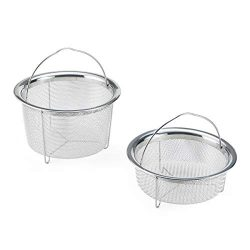 Instant Pot 5252247 Official Mesh Steamer Baskets, Set Of 2, Stainless Steel