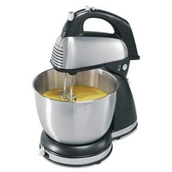 Hamilton Beach Classic Hand and Stand Mixer, 4 Quarts, 6 Speeds with QuickBurst, 290 Watts, Bowl ...