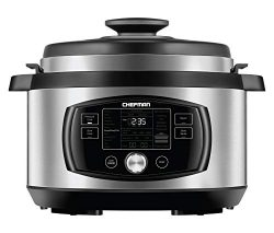 Chefman Multi-Function Oval Pressure Cooker 8 Quart Extra Large Programmable Multicooker, 18 Pre ...