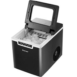 COSTWAY Countertop Ice Maker, 26LBS/24H Portable Electric Ice Machine, 9 Bullet Ice / 8 Min, Int ...