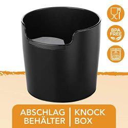NEW: Homeffect Knock Box with Improved Handling – Innovative Barista Tool – Black &# ...