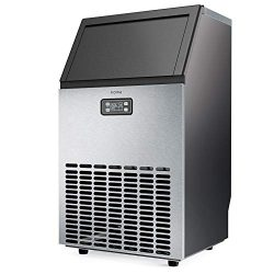 hOmeLabs Freestanding Commercial Ice Maker Machine – Makes 143 Pounds Ice in 24 hrs with 2 ...