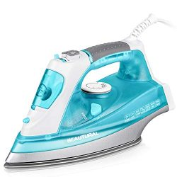 BEAUTURAL 1800 Watt Steam Iron for Clothes with Precision Thermostat Dial, Double Layered and Ce ...