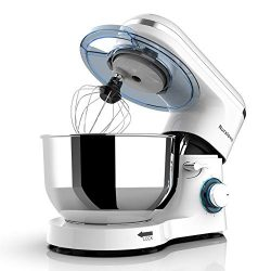 Nurxiovo 6-Speed Electric Mixer 7QT Stand Mixer Kitchen Tilt-Head Food Mixer with Stainless Stee ...