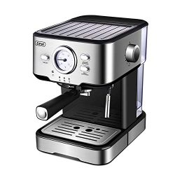 Espresso Machine Coffee Maker & Cappuccino Machine with 15 Bar Powerful Pump Steam Espresso  ...