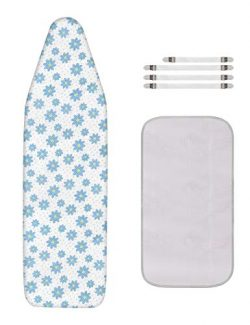 Dalykate Replacement Ironing Board Cover and Pad with Elastic Edge and Scorch and Stain Resistan ...