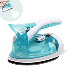 IIMII Mini Travel Steam Iron, Dual Voltage 560W Power, Rapid Heat Up Time, Powerful Steam Burst, ...