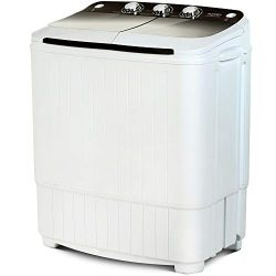 Portable Washing Machine, KUPPET 16.5lbs Compact Twin Tub Wash&Spin Combo for Apartment, Dor ...