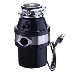 Yescom 1 HP 2600 RPM Continuous Feed Household Plug In Garbage Disposer for Kitchen Waste Dispos ...