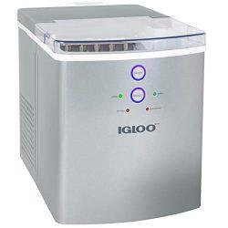 Igloo ICEB33SL 33-Pound Automatic Portable Countertop Ice Maker Machine, Silver