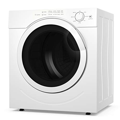 COSTWAY Electric Compact Laundry Dryer, 13LBS Capacity Tumble Dryer with 1500W Drying Power, 3.2 ...