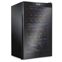 Ivation 33 Bottle Dual Zone Wine Cooler Refrigerator | Large Freestanding Wine Cellar For Red, W ...
