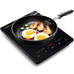 Portable Touch Induction Cooktop with LED Touch Screen, 1800W Countertop Burner, Induction Stove ...