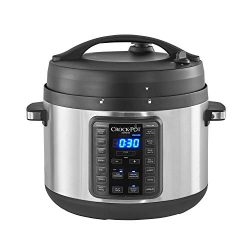 Crock-Pot 2097588 10-Qt. Express Crock Multi-Cooker with Easy Release Steam Dial, 10QT, Stainles ...