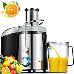 Juicer, Aobosi Ultra 800W Power Wide Mouth 3″ Centrifugal Juicer Machine for Whole Fruit V ...