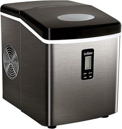 Tavata Countertop Portable Ice Maker Machine, 9 Ice Cubes Ready in 6 Mins, Makes 33 lbs of Ice p ...
