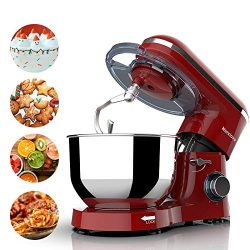 Nurxiovo 7QT Stand Mixer Kitchen,Tilt-Head 6-Speed Food Stand Mixer,660W Electric Mixer with Dis ...