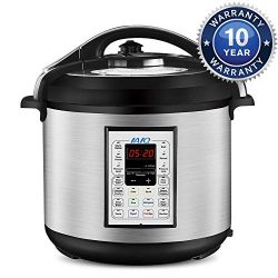 IAIQ Premium 8 Quart Pressure Cooker with 13-in-1 Cook Modes Including Slow Cooker and Manual El ...