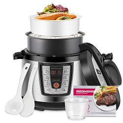 REDMOND Electric Pressure Cooker,5 Quart Multicooker 6-in-1 Multi-Use Programmable for Slow Cook ...