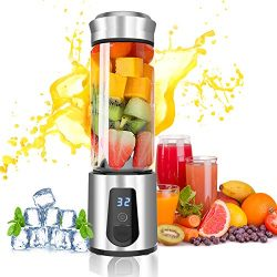 Personal Blender,AUZKIN Cordless Portable Blender Rechargeable USB Juicer Blender Small Blender  ...