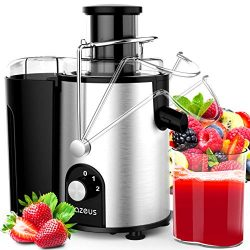 AZEUS Centrifugal Juicer Machines with Utility Patent, UNIQUE EXTRACTION SYSTEM with Germany-mad ...