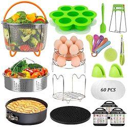 Pressure Cooker Accessories Set – Fit Instant Pot 6 qt 8 Quart, Include Steamer Baskets, S ...