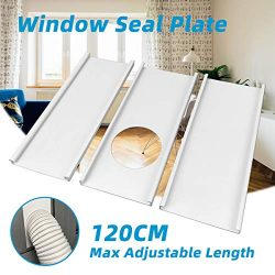 Jeacent Portable Air Conditioner Window Seal Plates Kit, Plastic AC Vent Kit for Sliding Glass D ...