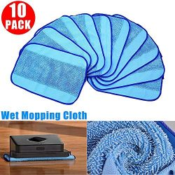 10pcs Wet Microfiber Mopping Cloths Mop Pads Linkstyle Replacement Pro-Clean Wet Mopping Pads fo ...