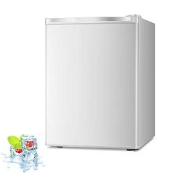 Kismile 2.1 Cu.ft Upright Freezer with Compact Reversible Single Door,Removable ShelvesFree Sta ...