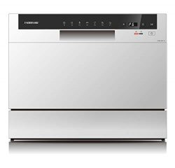 Farberware Professional FCD06ABBWHA Compact Portable Countertop Dishwasher with 6 Place Settings ...
