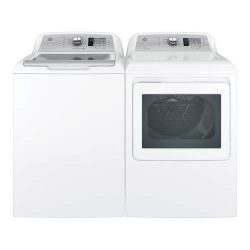GE Top Load Speed Wash GTW685BSLWS 27″ Washer with Front Load GTD65EBSJWS 27″ Electr ...