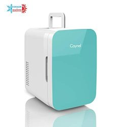 Caynel Mini Fridge Cooler and Warmer, (6 Liter / 8 Can) Portable Compact Personal Fridge, AC/DC  ...