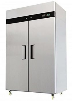 52″ Double 2 Door Side By Side Stainless Steel Reach In Commercial Freezer 49 Cubic Feet,  ...