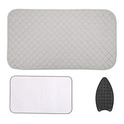 HOMCOU Ironing Mat Ironing Pad Portable Travel Ironing Blanket with 4 pcs Corner Magnetic for Ta ...